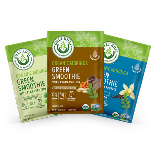 Moringa Greens and Protein Sampler Pack 3-ct